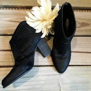 Like New Ugg suede animal print black boot